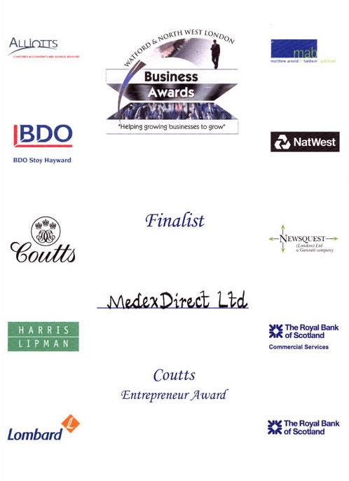 Coutts Entrepreneur Award Finalist